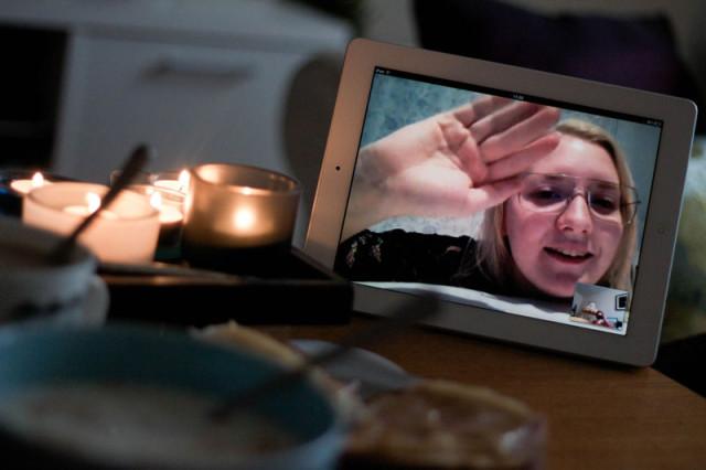 Skype med Anna