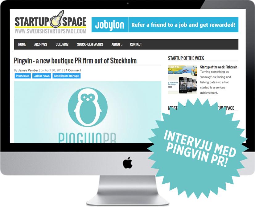 Pingvin PR på SwedishStartupSpace!