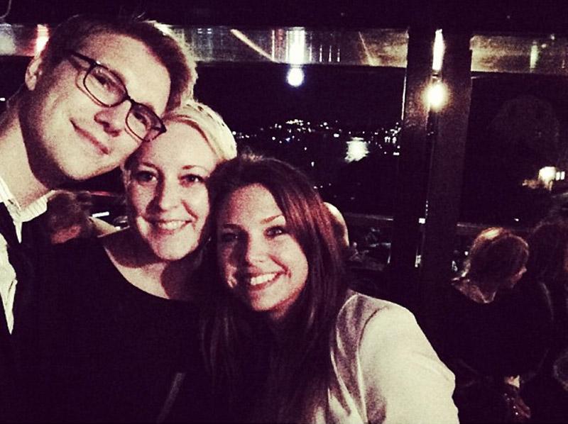 Jesper, jag och Sara