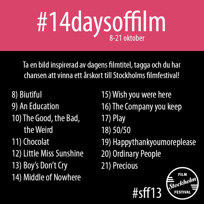 #14daysoffilm