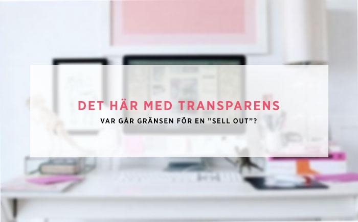 Det här med transparens