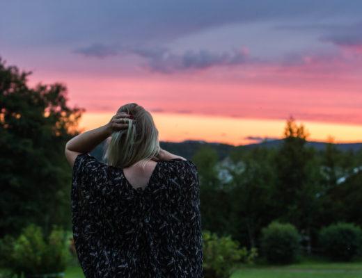 Solnedgång i Kvaved