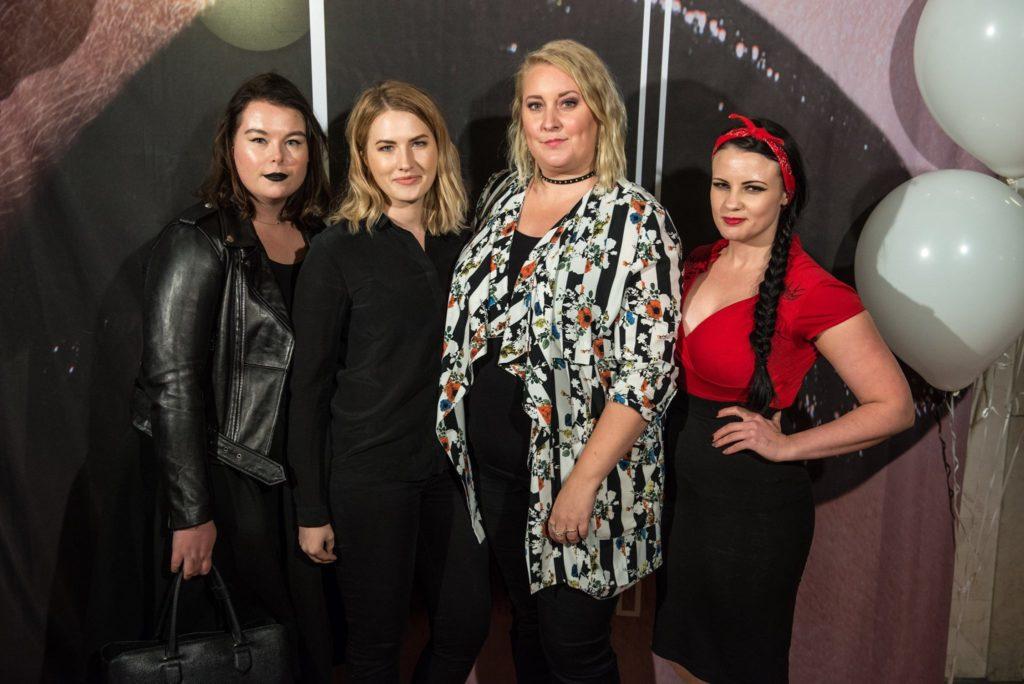 Karin, Mikaela, jag och Cecilia