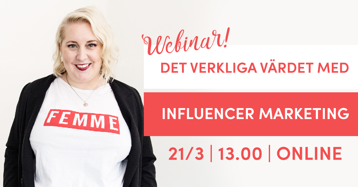 Webinar i Influencer Marketing