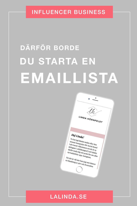 Därför borde du starta en emaillista!